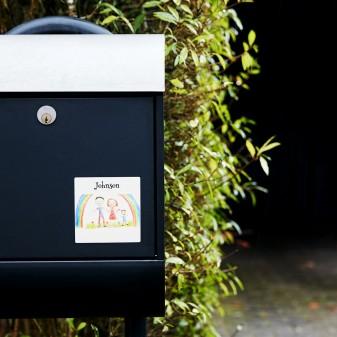 Namensschilder Aufkleber Für Briefkasten Ikast Etikett